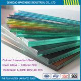 Vidrio laminado de la seguridad con la película clara del color PVB del vidrio de flotador