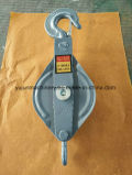 Abrir el tipo solo bloque de arrebatamiento de la polea del cable de la polea acanalada
