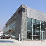 Construction de structure métallique avec le mur en verre de rideau pour la salle d'exposition de véhicule