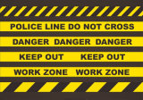 공장 판매 알루미늄 호일 경고 테이프