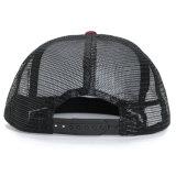 Kundenspezifische Schaumgummi-Ineinander greifen-Stickerei-Polyester-Seil-Fernlastfahrer-Hut-Schutzkappe