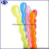 熱い販売マルチカラーねじ気球、螺線形の気球