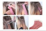 Estensione dei capelli del nastro del doppio dell'unità di elaborazione con i capelli umani di 100%