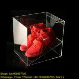 Boîte d'affichage à chaussures en acrylique transparente