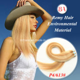 "20 "" 100% Remy Tape Hair, Pu Skin Weft 100g/Set 40PCS Tape in Human Hair Extensions"