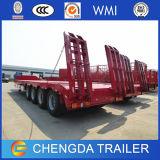 40-80ton 4 차축 Lowbed 트럭 트레일러