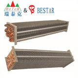 Serpentin d'évaporateur en aluminium de plaque d'ailette de tube de cuivre de réfrigération
