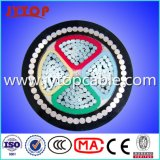 Aluminium, câble PVC, 4 de base du câble blindé
