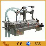 Máquina de enchimento líquida de 2 cabeças Enchimento-Dobro superiores da Enchimento-Tabela do pistão das cabeças