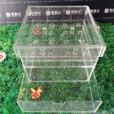 Rectángulo de almacenaje de encargo del rectángulo de acrílico de la flor para la venta