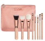 Reeks van de Borstel van /Pink/Gold van de Borstel van de Make-up van het Gezicht van Zoeva 8PCS de Vastgestelde Zwarte Kosmetische