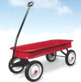 Radioflugblatt-klassischer roter Lastwagen