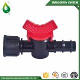 Irrigazione pratica del giardino che innaffia la valvola a saracinesca di plastica del PVC