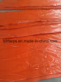 Couverture orange de faible puissance de camion de bâche de protection, bâche de protection de PE de la Chine