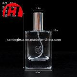 frasco de perfume liso quadrado do cristal 50ml