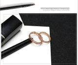 2017 Ringen van het Roestvrij staal van het Ontwerp van de Juwelen van de Manier de In het groot Goud Gevulde