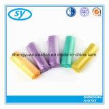Bolsos planos plásticos del color del claro de la basura del HDPE
