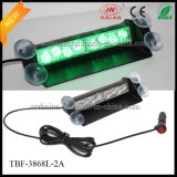 Color verde 2X4 LED Interior Dash Warning Lights