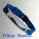 Силиконовый браслет Pub036 синего цвета