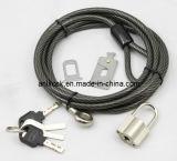 Laptop Lock & Vorhängeschloss, Kabel + Vorhängeschloss (AL2000)