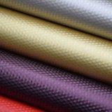 Kristalloberflächenchemiefasergewebe PU-Beutel-Leder-strukturiertes dekoratives Leder