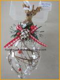 Hete Verkoop die de Ornamenten van het Glas van Kerstmis met Hars Raindeer hangen
