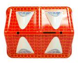 Casa Grande en forma de caja de la moneda del dinero, caja de la lata de metal