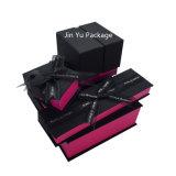 Black&Red feste Schmucksache-Papierverpackenkästen mit Silk Farbband