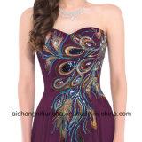 Elegante Pfau-Abend-Kleid-Frauen-reizvolle lange Abschlussball-Partei-Kleider