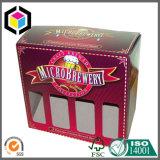 Twin Pack Vino de papel caja de cartón de embalaje con la manija