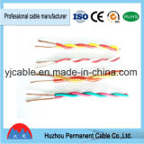 Câble vert et rouge de Rvs de twisted pair d'isolation de PVC