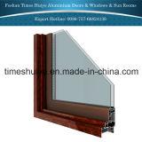 Vidro da porta de alumínio com vidro fixo e o vidro corrediço