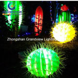 Christmas Decorationのための3D LED Motif Lighted Cactus