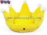 Coroa de cor amarela King Crown Style Pet Bed Sofá para cão de cachorro Bosw1096 / 47X32m