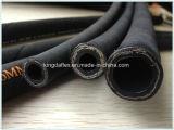 Rubber vier/Zes Met grote trekspanning van de Olie van de Vlecht van de Draad van het Staal Bestand Synthetisch (SAE 100r15)