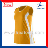 Pallavolo Sleeveless Jersey di sublimazione dell'indumento di disegno di modo di Healong