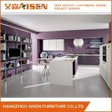 Nueva alta calidad del diseño popular de alto brillo blanco de la laca del gabinete de cocina