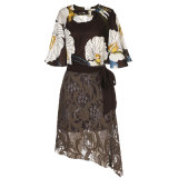 Верхняя часть нового типа флористические и платье женщин способа юбки