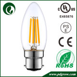 UL C35 LEDの蝋燭は2W 4W 6W E12 E26 LEDのフィラメントの球根をつける