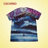 La qualité sèche de &Good de T-shirt d'ajustement sublimée par colorant conçoivent le T-shirt en fonction du client