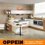 Chinese Oppein Modern White Melamine Kitchen Cabinet (OP14-054)