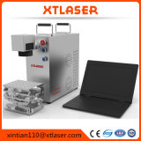De Laser die van de Vezel van Jinan Machine met Roterende Lijst 20W merken