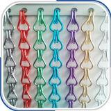 Звено цепи цвета алюминия шторки для помещений с делителя