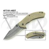 """4.5は""""黒いハンドルの戦術的な固定刃のナイフを閉じた: 4PT115-45bk"""