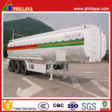 Trois essieux du matériel en acier au carbone 40-55cbm huile Carburant Camion Citerne pour la vente de remorque