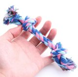 Pet Tressé Cotton Rope Puppy Dog Chew Toy Knot Tug War Dents Training Cleaning