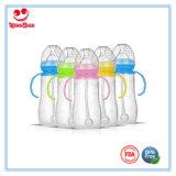 8 унции красочные новорожденных силиконовая бутылочка для кормления малыша