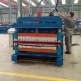Glasig-glänzendes Dach-Panel-doppelte Schicht-Blech, das Maschine ein Profil erstellt