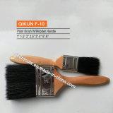 Escova de pintura sintética dos filamentos do punho F-04 de madeira
