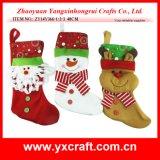 Bas de la décoration de Noël (ZY11S142-1-2) de constructeur de chaussette de Noël de Chritmas